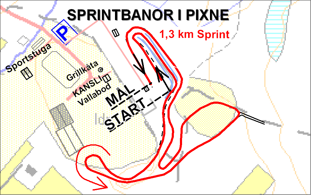Pixne sprintbana 1,3 km